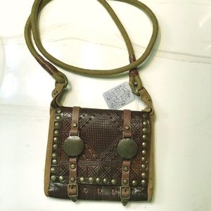 Free People small crossbody bag leather new